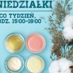 Poniedziałkowe spotkania beauty i warsztaty kosmetyków naturalnych w CH Osowa