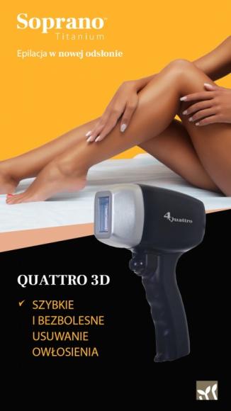 SOPRANO TITANIUM - przełom w depilacji laserowej Uroda, LIFESTYLE - Kobiety marzą o gładkim ciele bez konieczności ciągłej depilacji. Wystarczy zastosować bezbolesną i bezpieczną depilację laserową najnowocześniejszą maszyną Soprano Titanium, którą - jako jedna z nielicznych w Polsce - posiada klinika kosmetyczna Open Clinic w Warszawie.